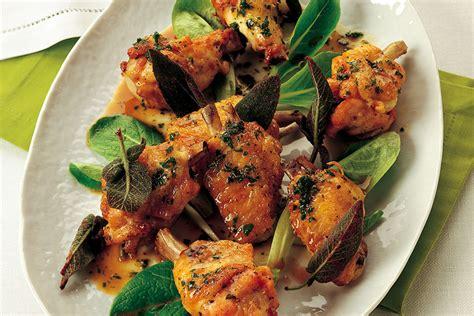 cucinare alette di pollo ricetta alette di pollo alla salvia la cucina italiana
