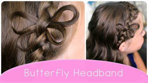 cute hairstyles headband braid how to make a butterfly braided headband cute hairstyle