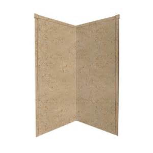 shop transolid decor sand castle shower wall surround corner wall panel common 36 in x 36 in