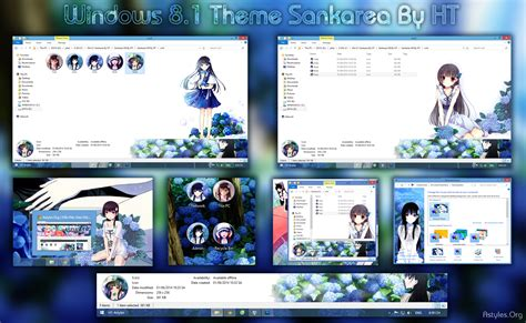visual themes for windows 8 1 visual styles 8sankarea win 8 1 anime theme by hoangtush