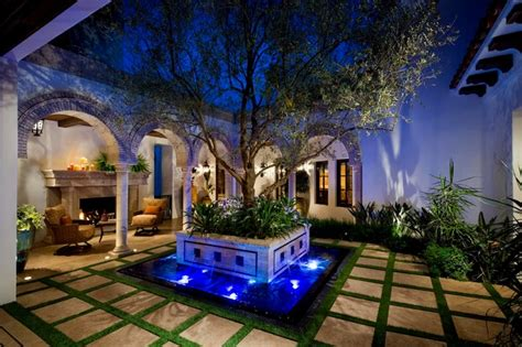 spanish colonial homes central courtyard pool pool a spanish revival spanish colonial mediterranean
