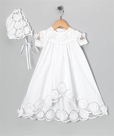 white baby dress ma amie ma amie white baptism dress bonnet