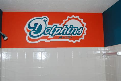 Miami Dolphins Bathroom Accessories Miami Dolphins Mural In A Bathroom By Tom Of Wow Effects Traditional Dc Metro By