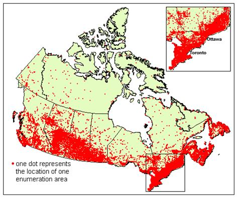 us and canada population map dot distribution population map of canada misskelk8