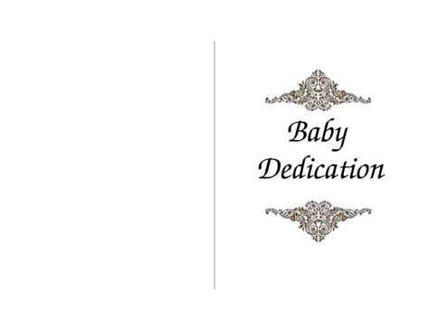 dedication template baby dedication certificate template free