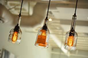 bottle light fixtures recycled glass bottle hanging gin l pendant with edison