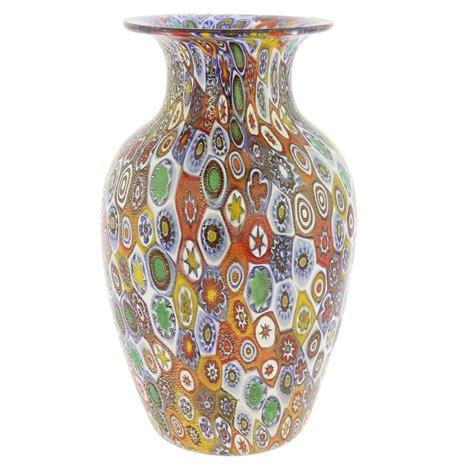 murano millefiori vase murano glass vases golden quilt millefiori urn vase