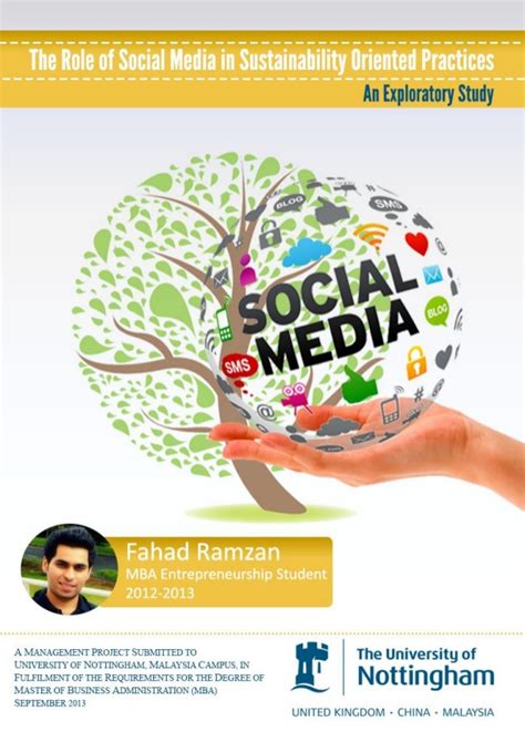 Social Sustainable Mba Csu by The Of Social Media In Sustainability Oriented