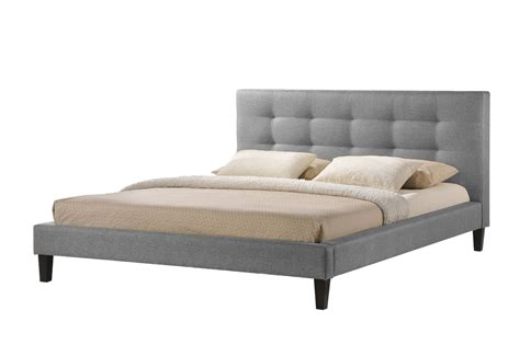 bed frame the 68 inch wide baxton studio quincy linen platform bed
