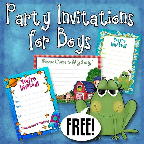 boys birthday invitations templates free 170 best images about free printable birthday