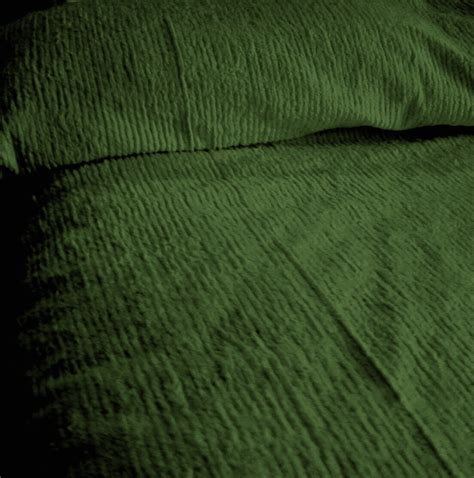 green coverlets solid hunter green ribbed cotton chenille bedspread with