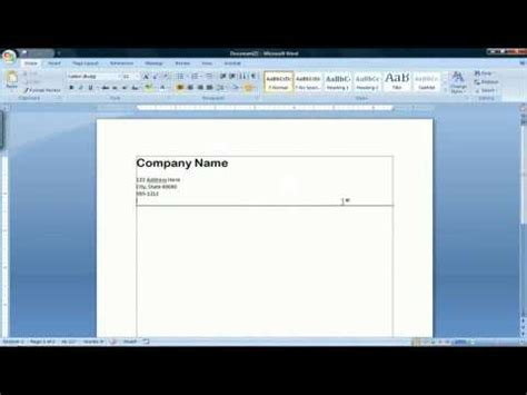 Official Letterhead Microsoft Word How To Create A Letterhead In Microsoft Word 2007