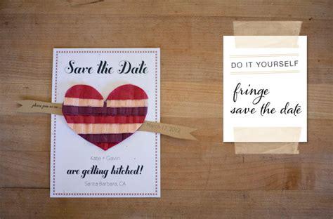 diy wedding save the date diy fringe save the date green wedding shoes weddings