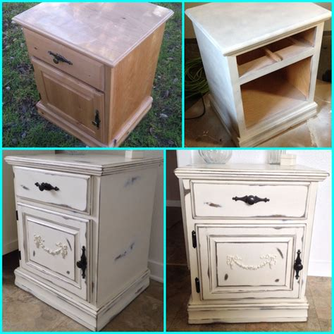 cottage chic furniture my diy shabby chic nightstand furniture makeover painted