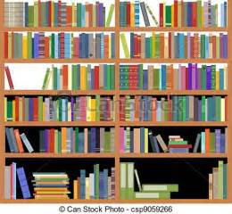 White Horizontal Bookcase Clip Art Vector Of Bookshelf With Books Bookshelf With