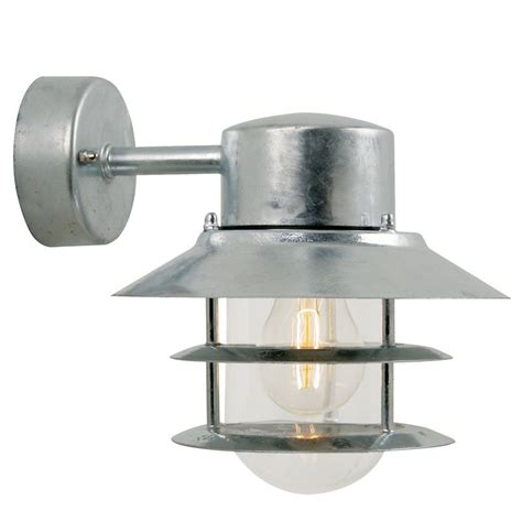 galvanised outdoor wall lights nordlux blokhus e27 outdoor wall light galvanised