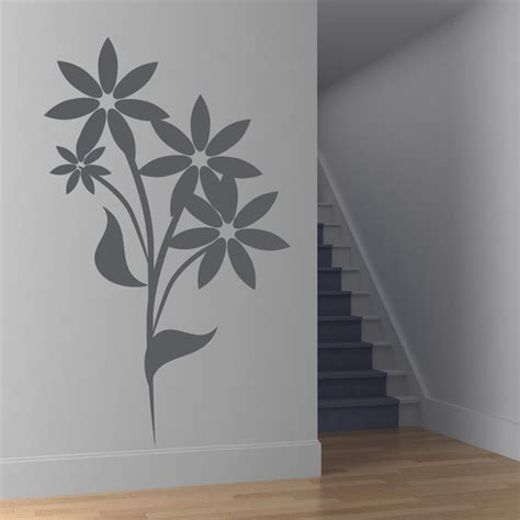 floral wall stickers floral flower wall decals wall stickers transfers ebay