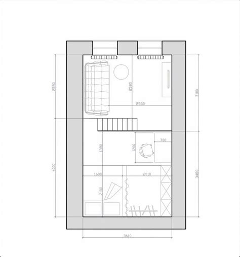 mezzanine floor plans tiny monochrome black walled apartment with mezzanine