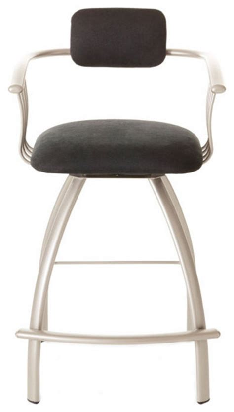 contemporary swivel bar stools with back modern open back swivel stool contemporary bar stools