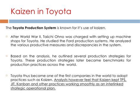 Toyota Kaizen Kaizen Philosophy