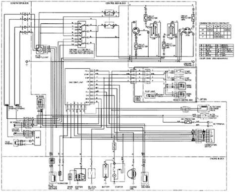 honda em6500 5500 watt portable generator system wiring