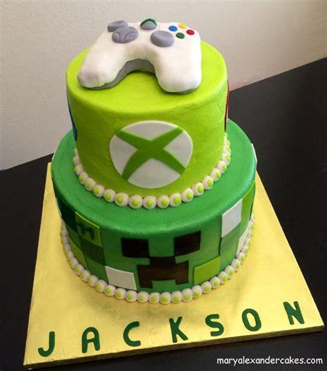 xbox themed birthday cake minecraft xbox gaming theme cake from mary alexander