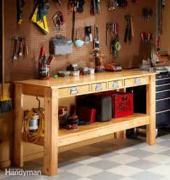 simple workbench plans the family handyman ideas about pinterest work bench diy