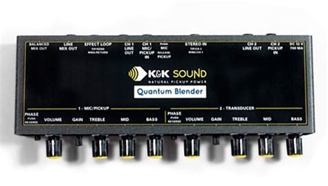 k k sound quantum blender dual channel guitar pre eq