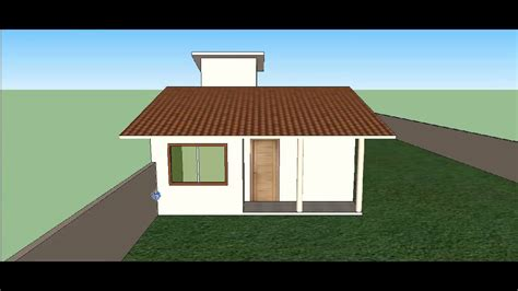 desenho de casas desenho simples de uma casa em 3d no sketchup