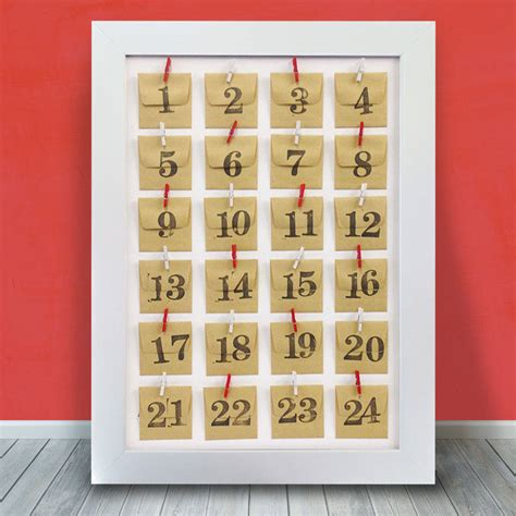 make your own advent calendar with photos personalised photo framed advent calendar by instajunction