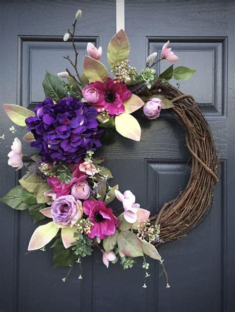 diy spring wreaths   front door