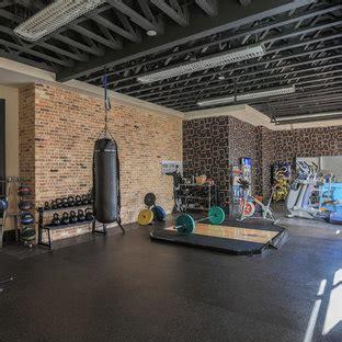 popular industrial home gym design ideas