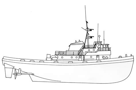 how to draw a cargo boat crowley invader class line drawing