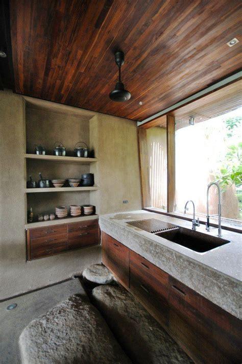 rough hewn stone slab sink  restaurant dish washer