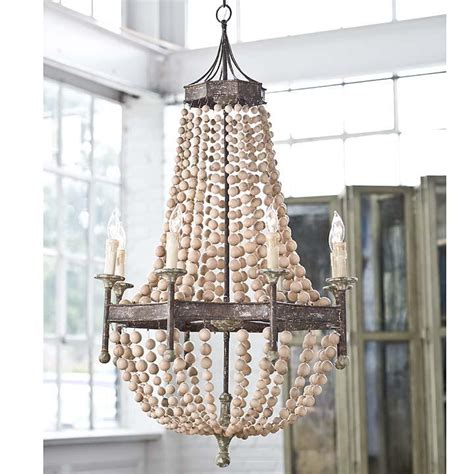 holz kronleuchter beaded chandeleirs inside out