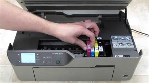 How To Get Ink by Hp Deskjet 3070a Change Ink Cartridges