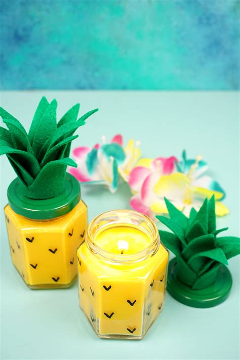 diy candles easy diy pineapple candles happiness is