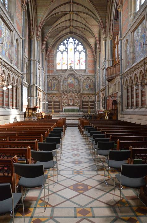 Oxford Interiors by The Chapel Interior Keble College Oxford By William