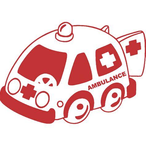 Wall Sticker Transparant 29 stickers stickers ambulance 2 stick