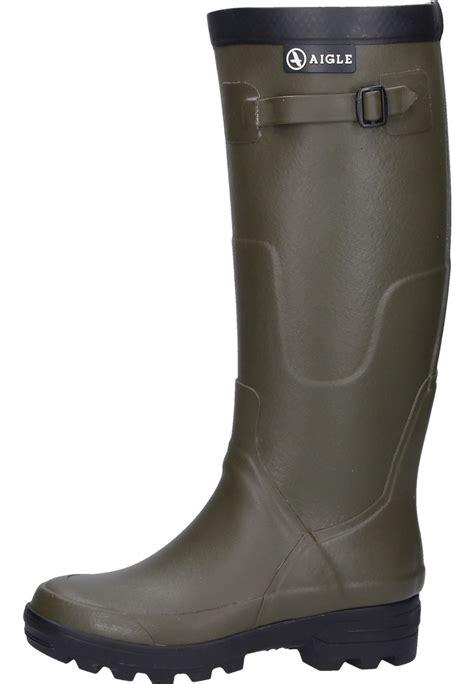 wellingtons boots for aigle benyl m kaki rubber boots an aigle wellington