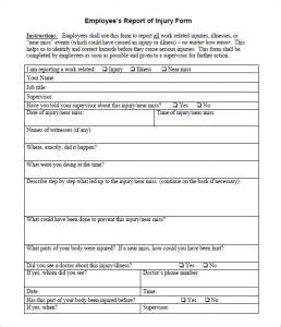 incident hazard report form template incident report sle template business