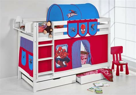 spiderman bunk bed etagenbett wei 223 spiderman jelle bunk bed spider man