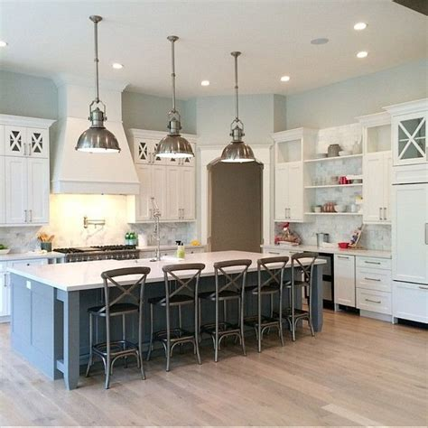 big kitchens with islands 1000 ideas about blue kitchen island on