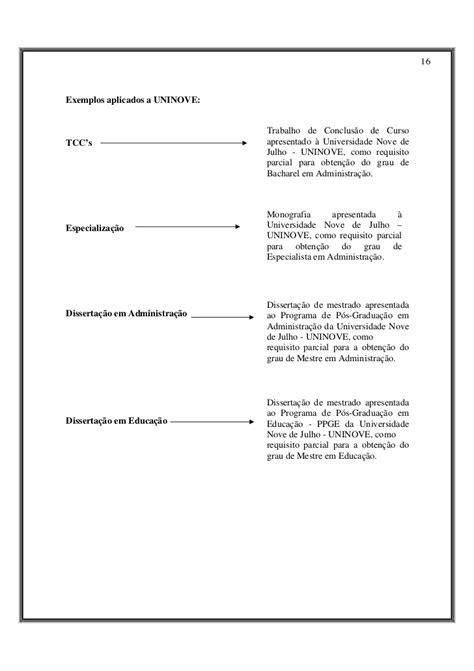 Abnt Tcc Como Requisito Parcial Para Obtenção Do Grau Mba by Manual Trabalhos Academicos G E R A L