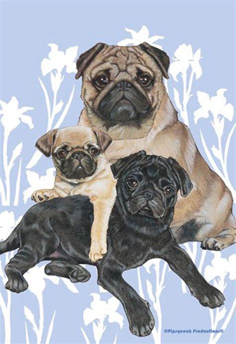 pug garden flags pug garden flag 12 5 x 18 in