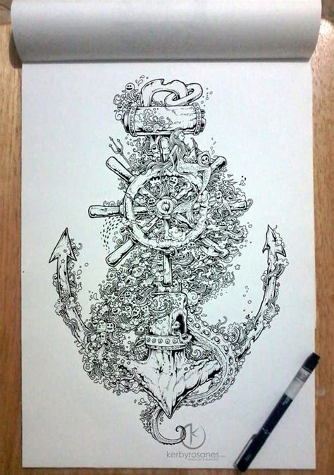 Drawing 4 Hours A Day by Doodle Into The Quot 11 Quot X 16 Quot Uni Pin Pens In A