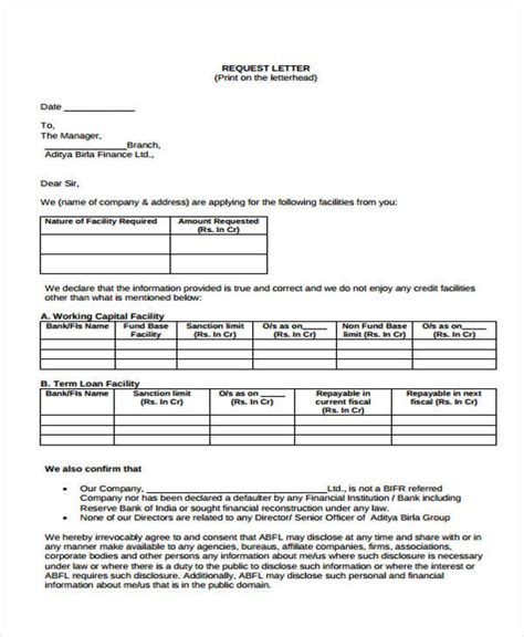 Bank Letter Of Offer For Housing Loan Sle Loan Template Sle Application For Loan 4 Loan Templates Free
