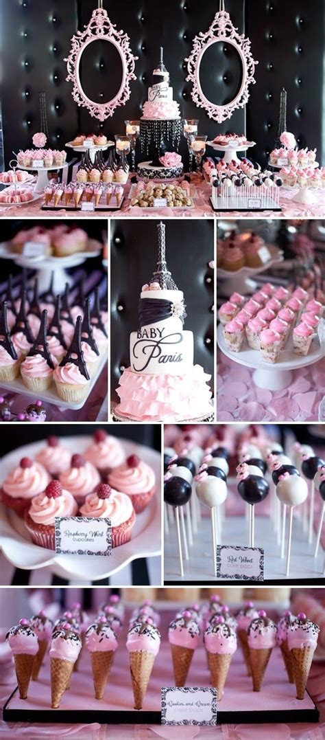 paris themed candy dessert table candy buffets