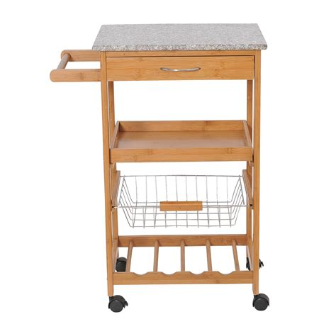 homcom kitchen food cooking appliances kids wooden craft homcom 31 quot rolling wooden kitchen trolley cart with wine