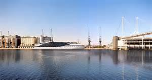 river thames yacht hotel london s first superyacht hotel makes her way up the river